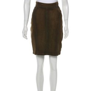 Burberry Brit Suede Pencil Skirt Brown Size 8